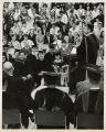 [Commencement, 1967, Homer Schamp at podium]
