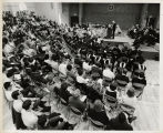 [Commencement, 1967, wide crowd shot]