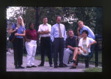 [Portrait of John Martello, Shriver Center, with students (CASE Group Outtakes)]