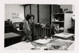 [Woman in printmaking studio]