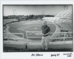 [Art Johnson at Memorial Stadium]