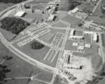 Aerial view of the campus, Patapsco under construction