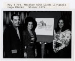 Mr. & Mrs. Meushaw with Linda Lintzeris, Logo Winner