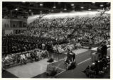 [Commencement, 1985, wide shot of crowd]