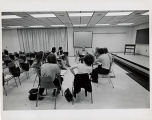 [Classroom in the Fine Arts building]