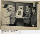 [Edward Bafford donates photos to Library, 1973]