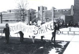 Students strike on campus