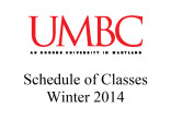 Schedule of classes (Winter 2014)