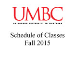Schedule of classes (Fall 2015)