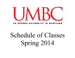 Schedule of classes (Spring 2014)