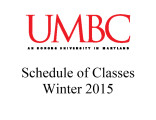 Schedule of classes (Winter 2015)