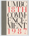 UMBC 18th Commencement 1987