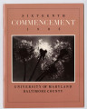 Sixteenth Commencement 1985 University of Maryland Baltimore County