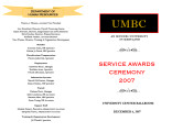 Service Awards Ceremony 2007