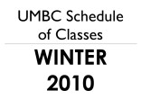 Schedule of classes (Winter 2010)