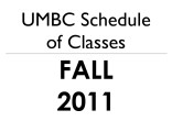 Schedule of classes (Fall 2011)