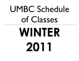 Schedule of classes (Winter 2011)