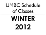 Schedule of classes (Winter 2012)