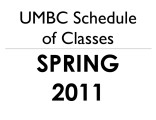 Schedule of classes (Spring 2011)