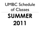Schedule of classes (Summer 2011)