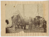 [Officers of New York Volunteers, 93rd - mail wagon headquarters]