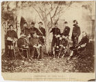 Incidents of the War. Major General A. Pleasonton and personal aids and General G. A. Custer