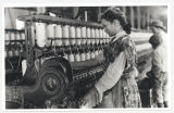 Spinner in Vivian Cotton Mills, Cherryville, N.C. Been at it 2 years. Where will her good looks be...