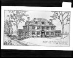 [Architect's drawing of residence for Dr. John McFarland Bergland]