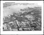 [Aerial view of Baltimore harbor]