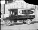 [McCormick & Co. delivery truck at Mount Vernon Place ]