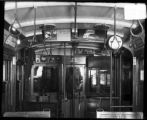 [Interior of a Birney type streetcar]