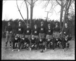 [Group portrait of University School for Boys' football team]