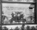 [Gatch Supply Company display window]