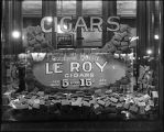 [Window display for Le Roy cigars]