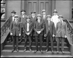 [Group portrait of International limestone quarrymen's class]