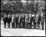 [Group portrait of officials at Baltimore Zoo]