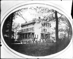 [Large house with Civil War soldiers in front]