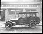 [Springfield Farm delivery truck in front of Franklin Motor Car Company]