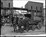 [Betholine horse-drawn tank wagon]