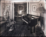 [Interior of home with piano]