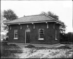 Outlet gate house- Lake Montebello, July 12, 1915