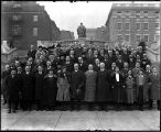 [Group portrait of Health Department, Bureau of Communicable Diseases officials]