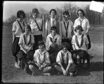 [Group portrait of Park School girls basketball team]