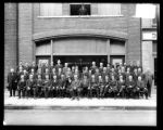 [Group portrait outside Warfield and Rohr Company]