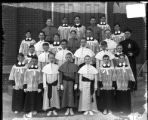 [Group portrait of boys at Saint Joseph's School]