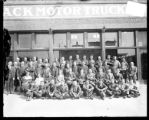 [Group portrait of Mack Motor Truck Corporation employees]