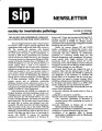 SIP Newsletter (Volume 23, Number 3)
