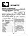 SIP Newsletter (Volume 24, Number 3)
