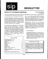 SIP Newsletter (Volume 26, Number 3)
