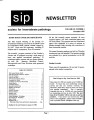 SIP Newsletter (Volume 29, Number 3)